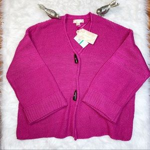 Band of Gypsies  Pink Oversized Cardigan Sweater